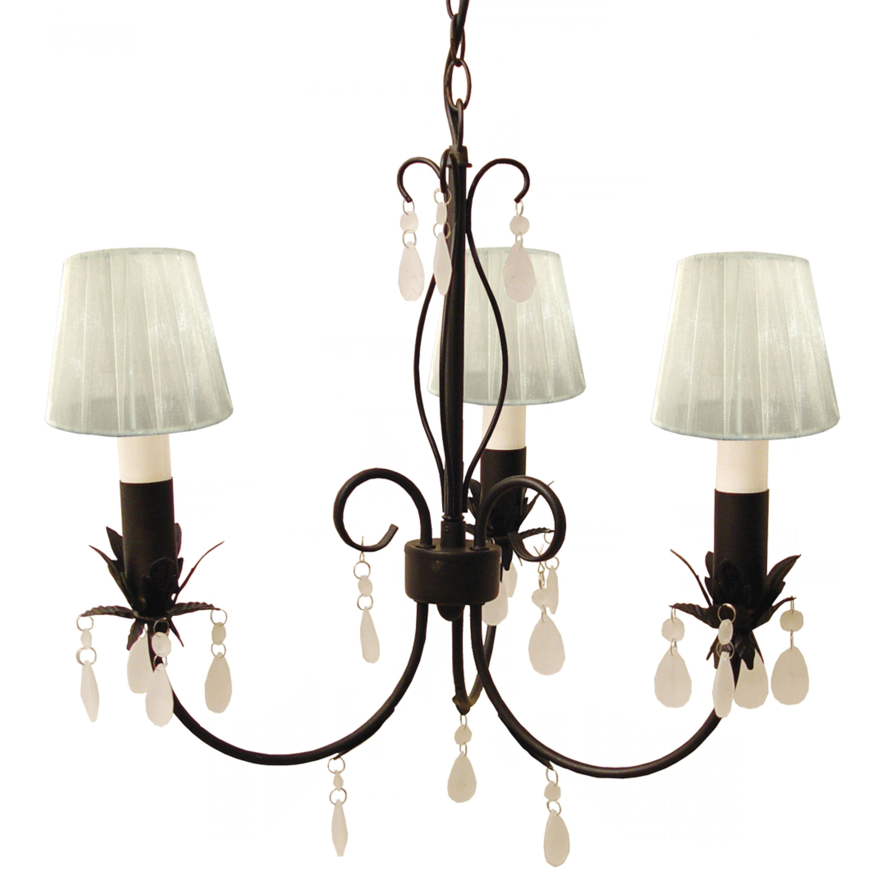 Arbois Light (semi flush, dark chrome)