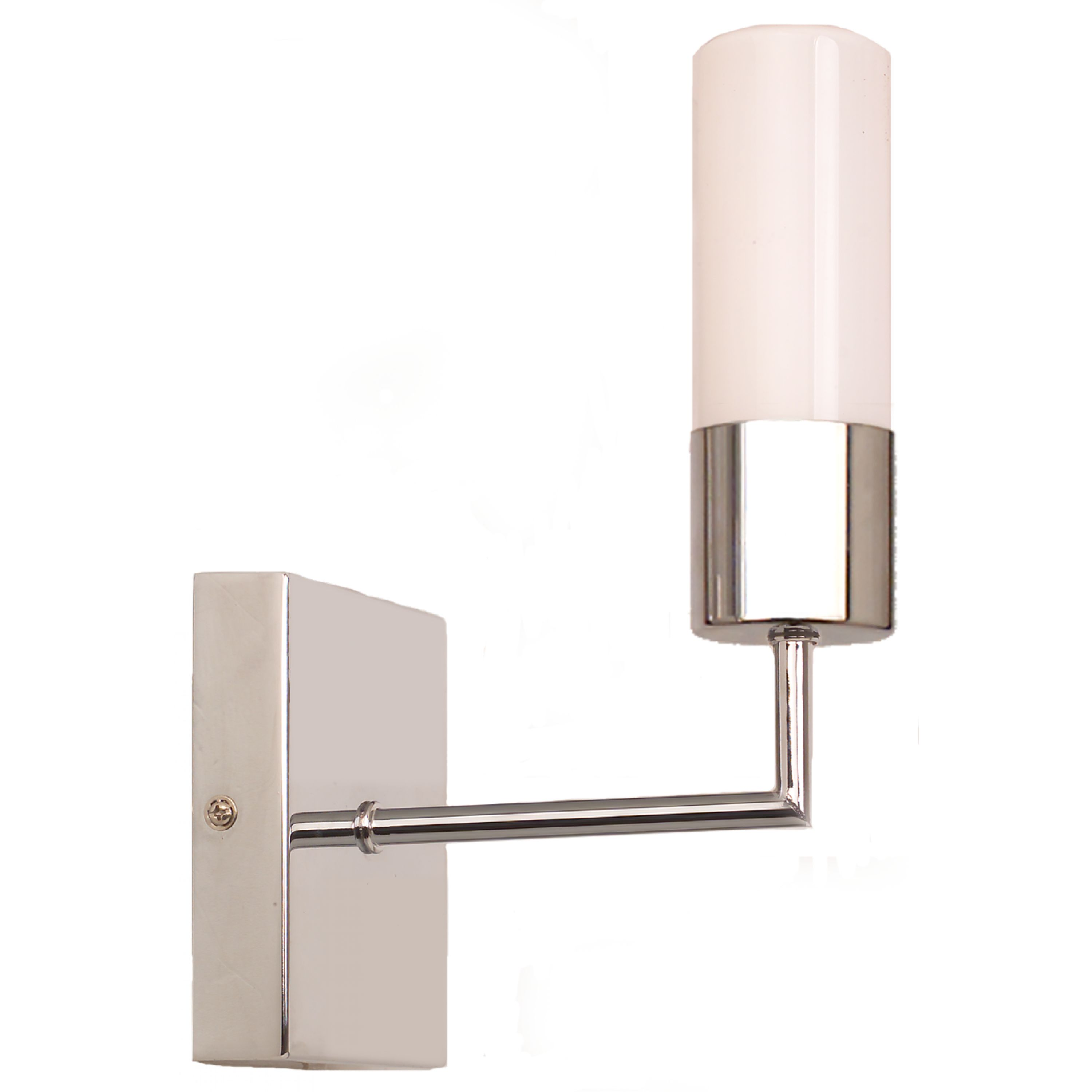 Convesso Wall Light (polished stainless steel, shaver socket)